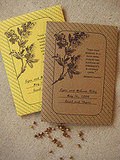 Vale Design's downloadable seed packet design would be a lovely favor for a garden wedding.