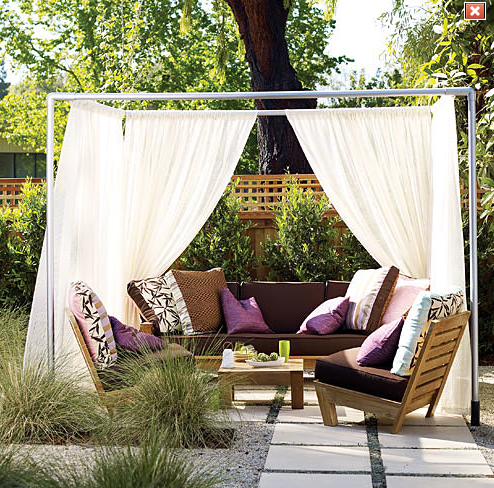 Sunset helps you to create this fabulous outdoor lounge.