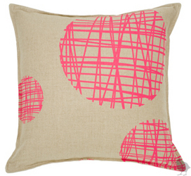 The Twenty2 Maxwell Pillow ($115) will have a ball on your sofa.