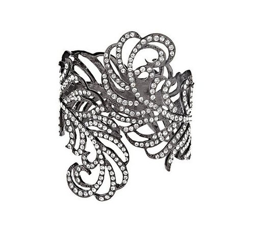 Kenneth Jay Lane's KJL Fanciful Feather Cuff Bracelet - QVC.com - $255