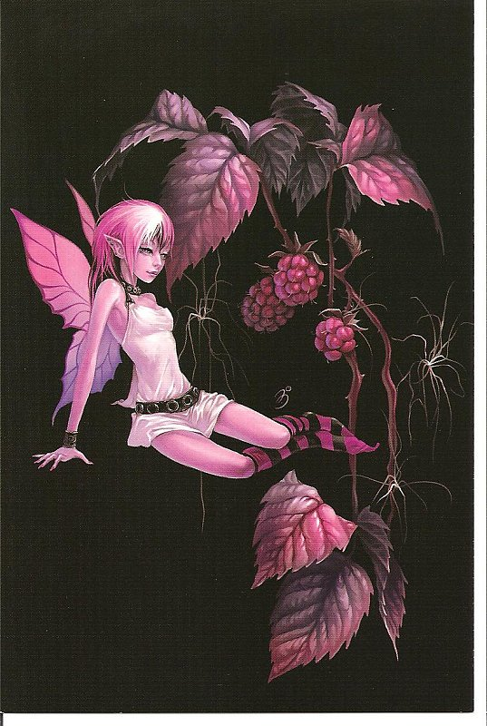 ~HOT PINK FAIRY~What would you rate this postcard??