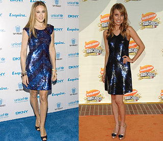 Who Wore It Better? Alice + Olivia Blue Sequin Dress