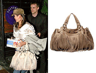 Found! Eva & Jessica's Fringe Leather Handbag