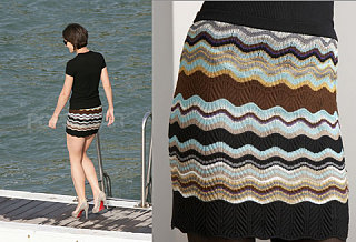 Found! Katie Holmes' Missoni Mini Skirt