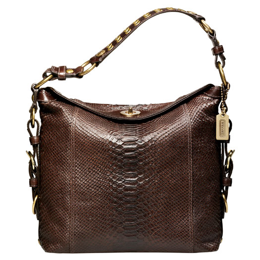 The Bag To Have: Coach Camilla Printed Python Hobo