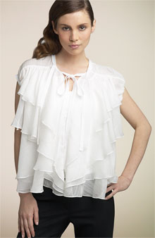 BCBG Chiffon Tie Front Blouse: Love It or Hate It?