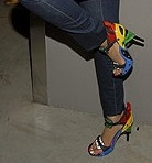 Would You Wear Beyonce's Rainbow Heels?