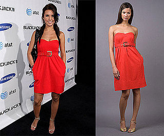 Found! Audrina Patridge's Red Strapless Dress