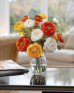 Silk Flowers: Accents: Ranunculus Accent