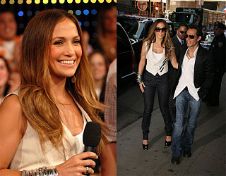 JLo Brings High Waist Pants to TRL