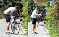 Jake Rides Bike While Personal Life Rumors Abound