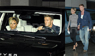 Beckhams Step Out for Birthday Bash