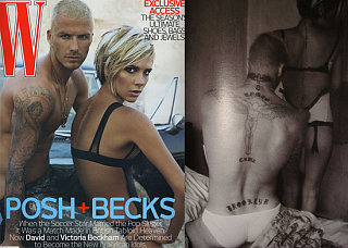The Beckhams Do W: How Hot? Sooo Hot