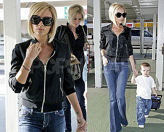 Posh and Cruz Leave London