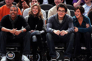 John Mayer and Minka Kelly at the Knicks Game
