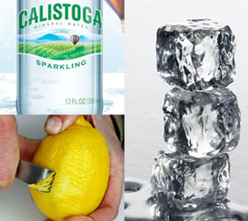 Lite'n It Up Group Feature: Sparkling Water with Lemon Zest Ice