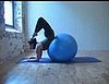 Get on the Ball:  Forearm Stand into Scorpion