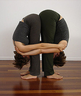 Partner Yoga Pose: Double Standing Forward Bend