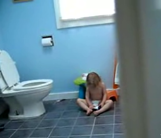 Baby Belts Out Ballad In Bathroom