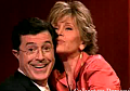 Jane Fonda Gettin' Jiggy With Stephen Colbert