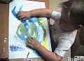 Cute Alert: 3 Year Old Fingerpainting Genius