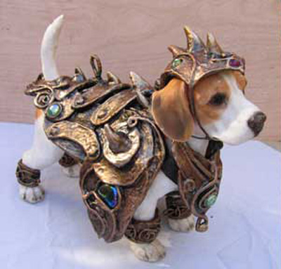 Cute Alert: Little Dog in Armor