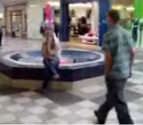 Teenage Flirting At The Mall