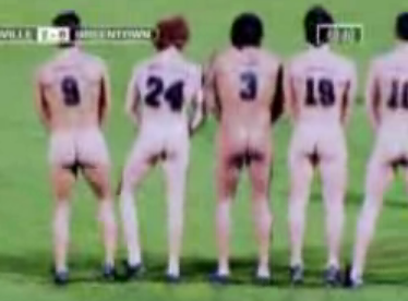 Streaker Interrupts Nude Soccer Game