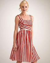 ShopStyle  red stripe dress