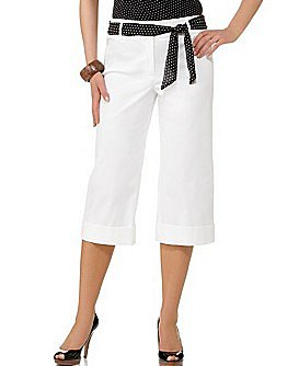 Macy*s - Women&#039;s - Charter Club Allison Sash-Belt Cuffed Capri Pant