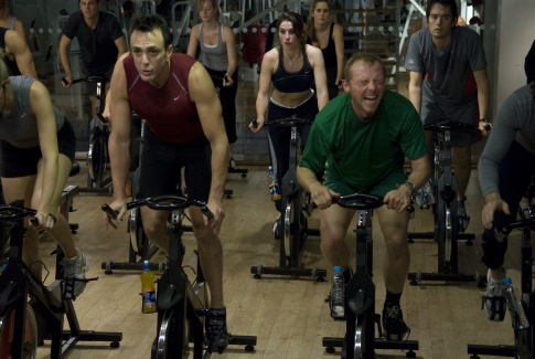 First Look: Simon Pegg and Hank Azaria in Run, Fat Boy, Run