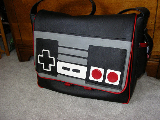 Totally Geeky or Geek Chic? Nintendo Messenger Bag