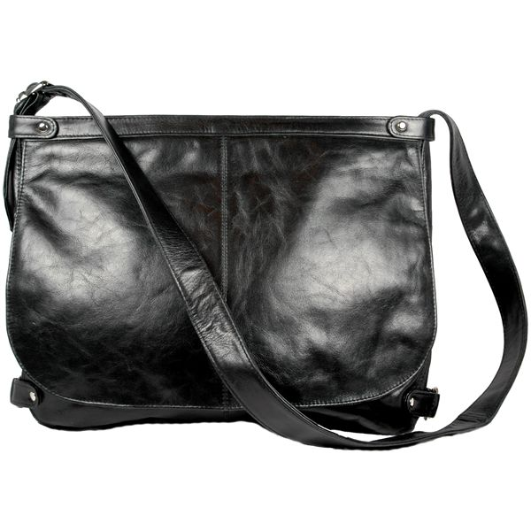Faye Laptop Messenger Bag Black