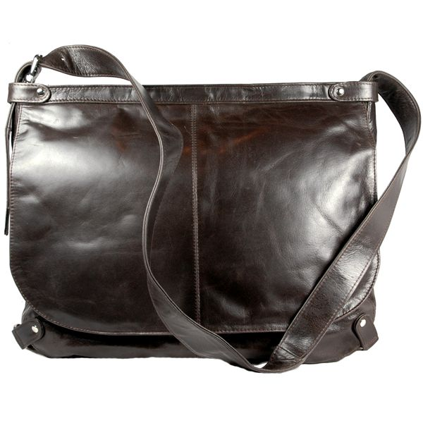 Faye Laptop Messenger Bag Brown