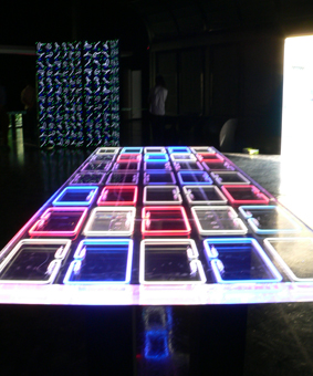 Hi-Tech Lighting Exhibit Illuminates Geek