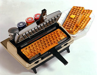 Geeky Waffle Machine: Goes Great With Chicken and Computers