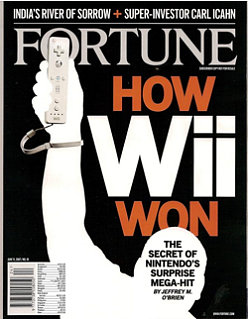 Nintendo Wii Makes Cover Of Fortune Magazine