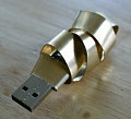 Geek Art: Swirly Metal USB