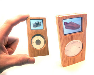 Totally Geeky or Geek Chic? Wooden iPod Case