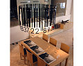 Totally Geeky or Geek Chic? Bar Code Chandelier