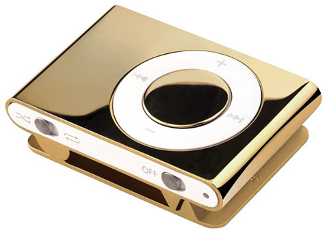 Luxurious Geek: iPod Shuffle Dipped in Gold