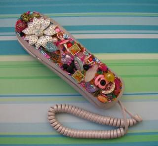 Glitz n' Glammed Out Retro Style Telephone