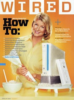 This Week On Geek - Martha Shows Up On Wired With Wii Cake