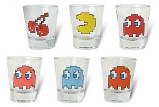 Pac-Man Shot Glasses: Totally Geeky or Geek Chic?