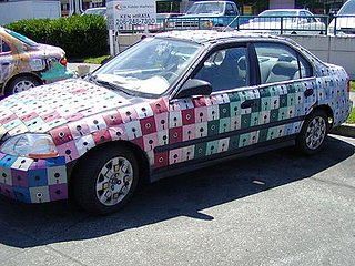 1998 Honda Civic Gets Floppy Disk Body Job