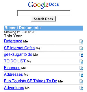 Google Docs Mobile Goes Live