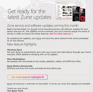 Daily Tech - Zune Updates on the Way