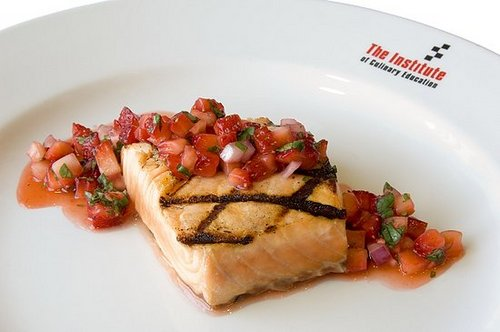 Rescue Yourself with Grilled Salmon and Strawberry Salsa