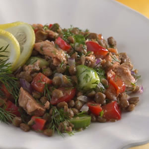 Monday's Leftovers: Lemony Lentil Salad With Salmon
