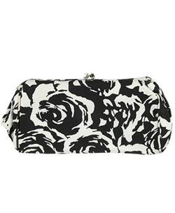 Black & white floral clutch